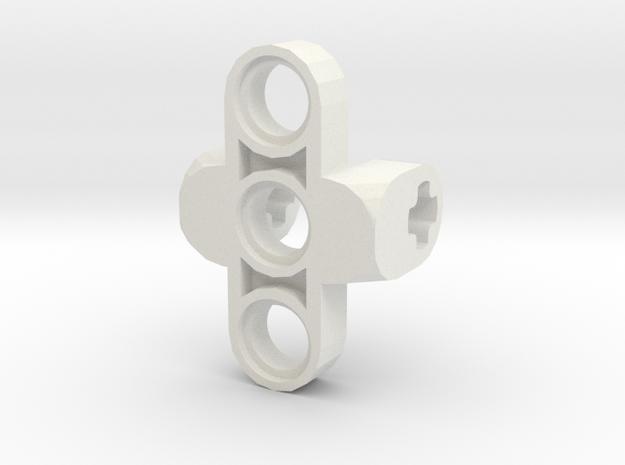 Custom Connector 2 in White Natural Versatile Plastic