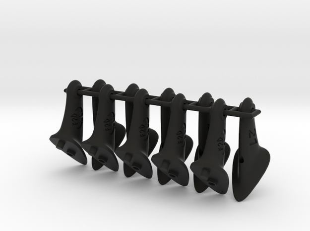 10 pcs. 21mm F2D Control Horn - v2.1 in Black Natural Versatile Plastic