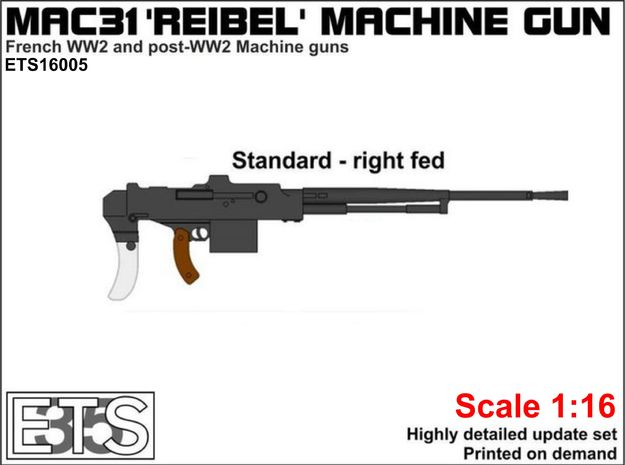 ETS16005 - MAC-31 'Reibel' machine gun (standard) in Smooth Fine Detail Plastic