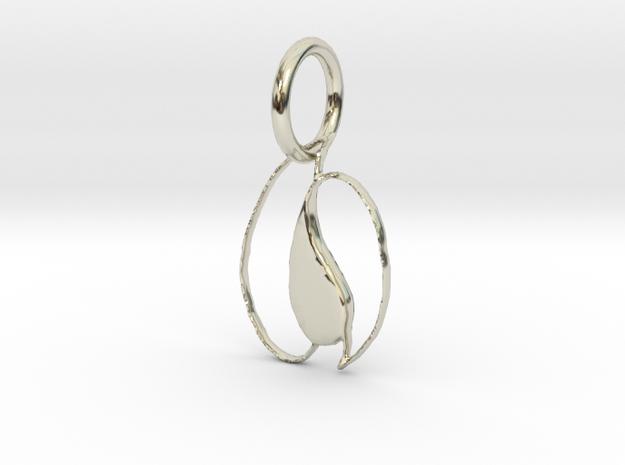 Petals & Teardrop Pendant in 14k White Gold