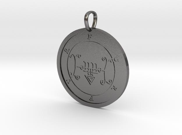 Furfur Medallion in Polished Nickel Steel