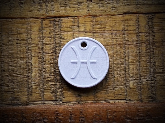 Pisces Aromatherapy Pendant in Natural Sandstone