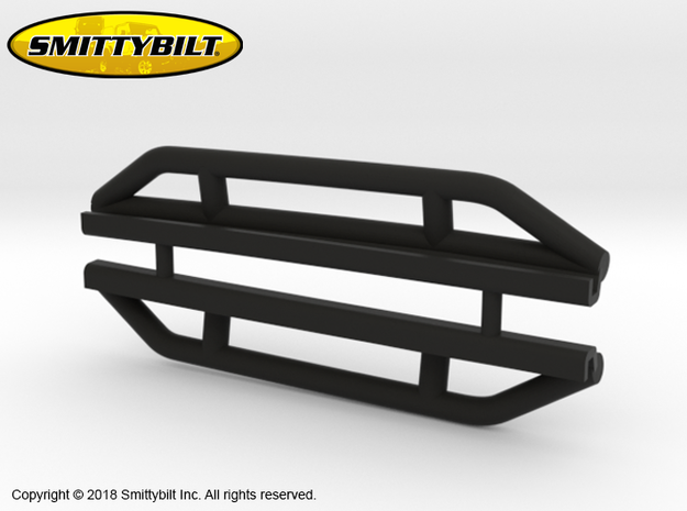 BR10019 Smittybilt Rock Sliders in Black Natural Versatile Plastic