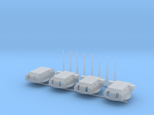 1/600 Bismarck and Tirpitz Turrets Set