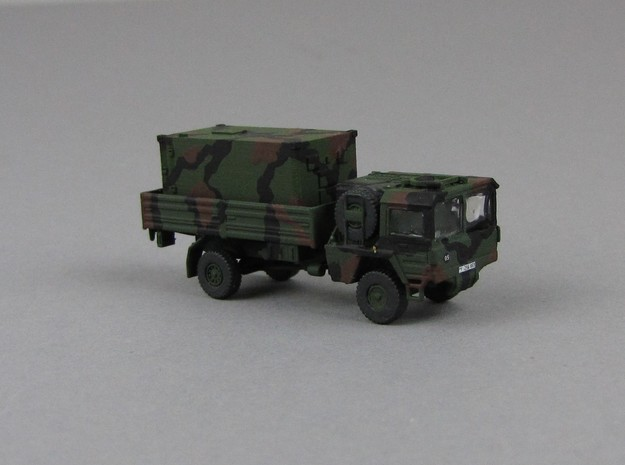 1:160 Kabine 2 Bundeswehr shelter in Smooth Fine Detail Plastic