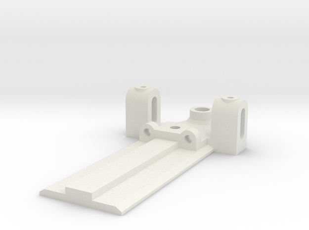 30mm Wide, 50mm long Front End, extended guide in White Natural Versatile Plastic