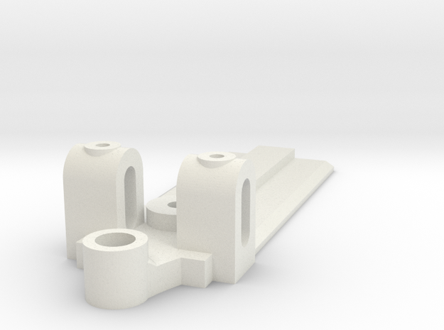20mm Wide, 50mm long Front End, extended guide in White Natural Versatile Plastic