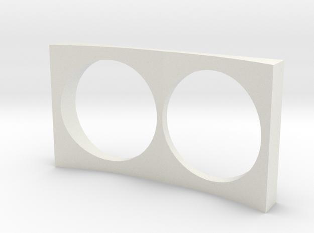HO Scale EMD E unit dynamic breaks box in White Natural Versatile Plastic