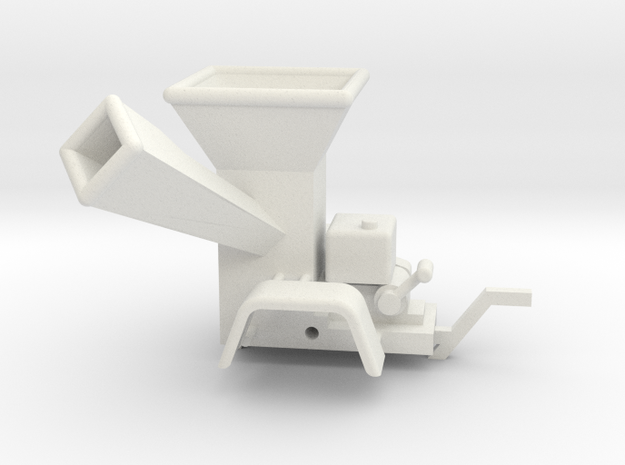 WoodChipper Industrial 43:1 Scale in White Natural Versatile Plastic
