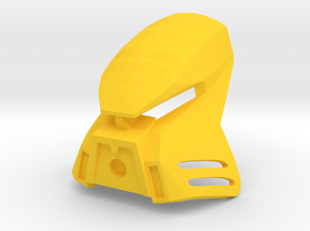 [commission] Kanohi Kualkama in Yellow Processed Versatile Plastic