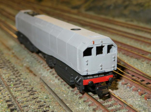N Gauge Bulleid Leader Scratch Aid - Body in Smooth Fine Detail Plastic