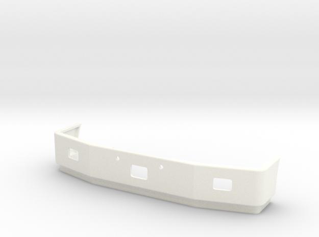 Peterbilt 377SBA Front Bumper in White Processed Versatile Plastic
