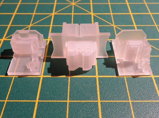 N Gauge Bulleid Leader Scratch Aid – Cabs & Ashpan in Smooth Fine Detail Plastic