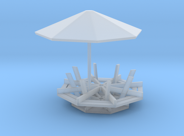 1/64 scale Picinic table in Smooth Fine Detail Plastic
