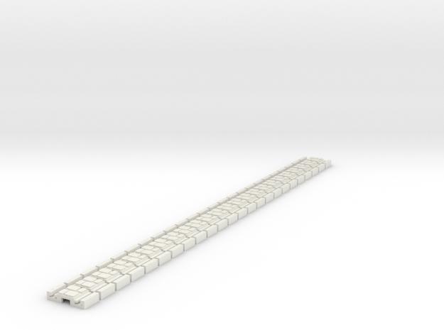 p-9st-slim-flexi-tram-track-100-x24-2a in White Natural Versatile Plastic