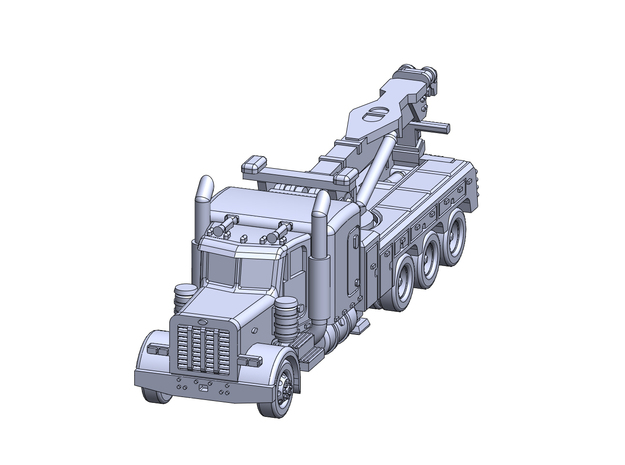 Pet 379 Tow Wrecker in Smooth Fine Detail Plastic: 1:350