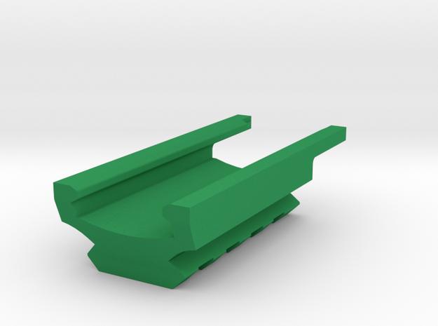 4-Slots Bottom Picatinny Rail for USP Pistol in Green Processed Versatile Plastic