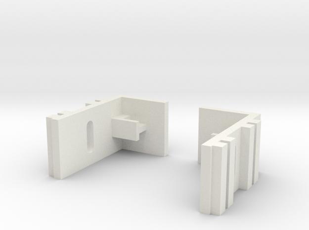 Mini-z Adjustable Side Body Mount in White Natural Versatile Plastic