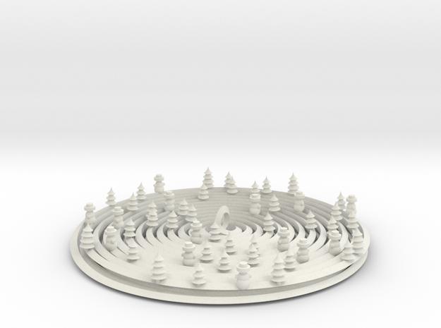 Palmiga Christmas tree ornament 1 in White Natural Versatile Plastic