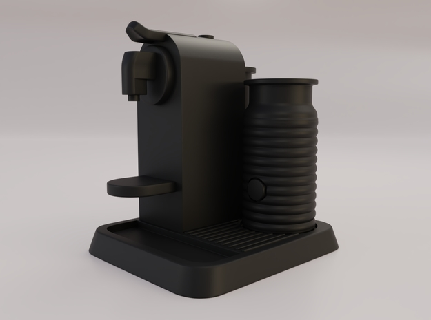 1:12 Miniature Coffee Maker nr 2 in Black Natural Versatile Plastic