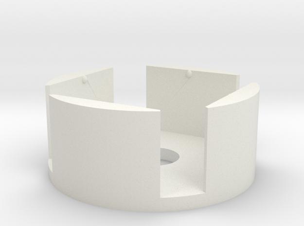 D6 Holder (12mm) in White Natural Versatile Plastic