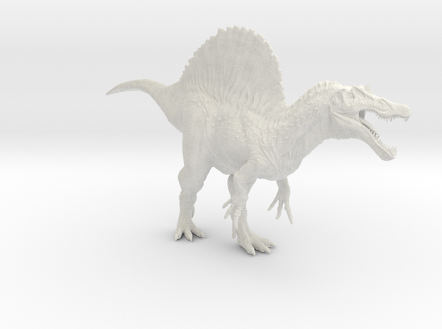 Spinosaurus 1/72 (Smaller Version) - DeCoster in White Natural Versatile Plastic