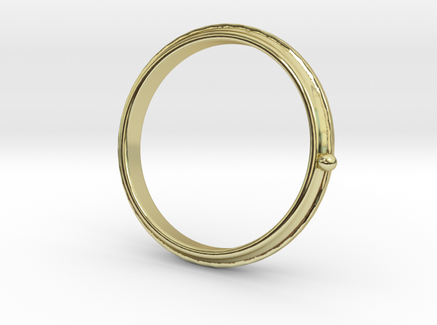 To the moon ring in 18k Gold Plated Brass