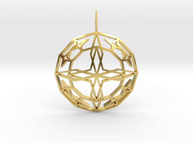 Archangel Michael Star (Domed) in Polished Brass