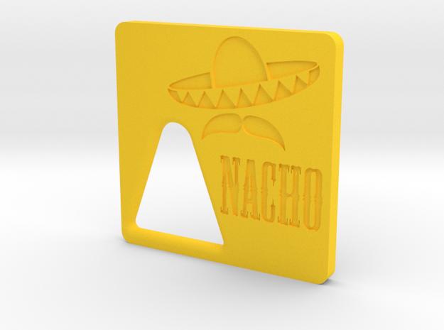 Nacho Jr - Door in Yellow Processed Versatile Plastic