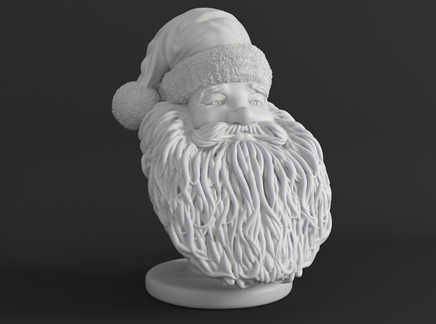 Santa Claus Bust Sculpture