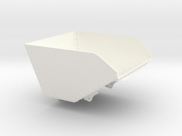 DQWB Ruston Bucyrus Tipper Body (SM32) in White Processed Versatile Plastic