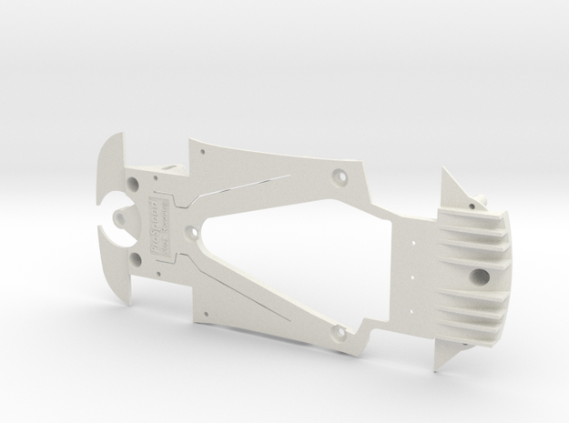 PSSX00107 Chassis for Scalextric AMG GT3 in White Natural Versatile Plastic