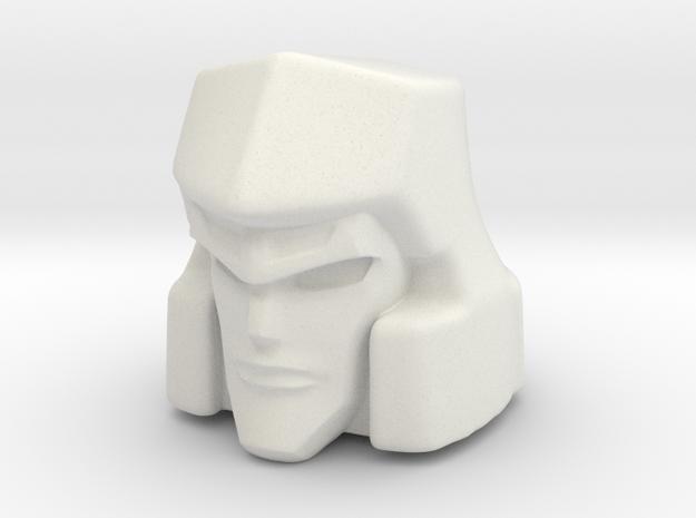 Megatron CW hoofd 16mm 5mm klickbol  in White Natural Versatile Plastic