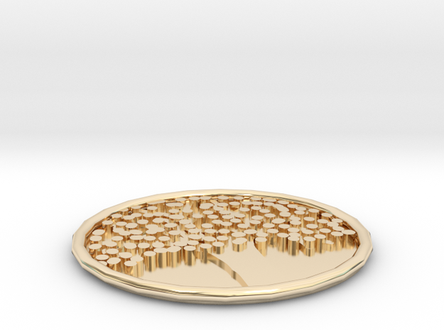 Cup Mat in 14K Yellow Gold