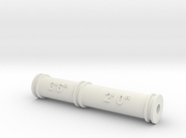 Nantlle Raiway Dual Gauge Roller Gauge 16mm Scale in White Natural Versatile Plastic