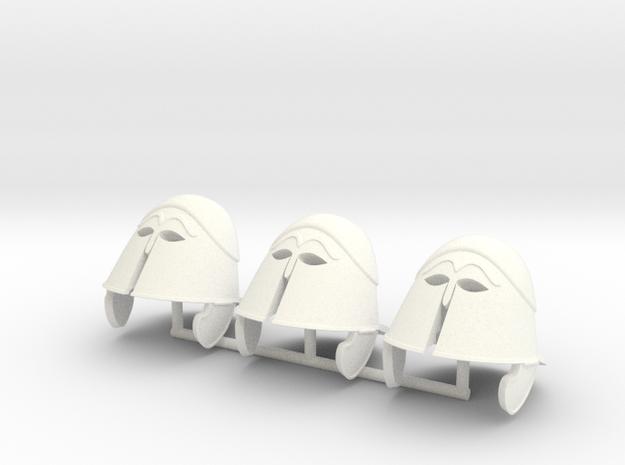 TRIARII HELMET 3 x3  in White Processed Versatile Plastic