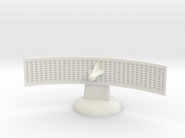 Captain Action Front Radar Dish 2 in White Natural Versatile Plastic