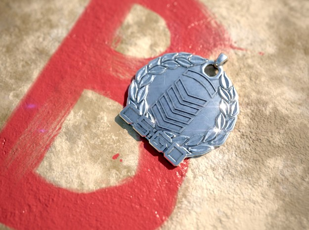 CS:GO - Silver 5 Pendant in Polished Silver