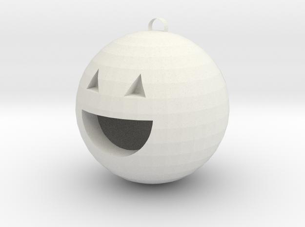 Pumpkin charm in White Natural Versatile Plastic: Medium