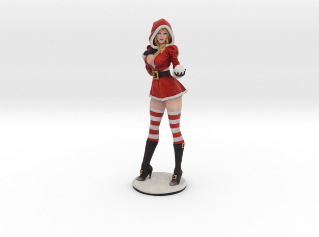 Sandra Claus w/ snowball in Natural Full Color Sandstone