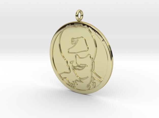 Rajnikanth Pendant in 18K Yellow Gold