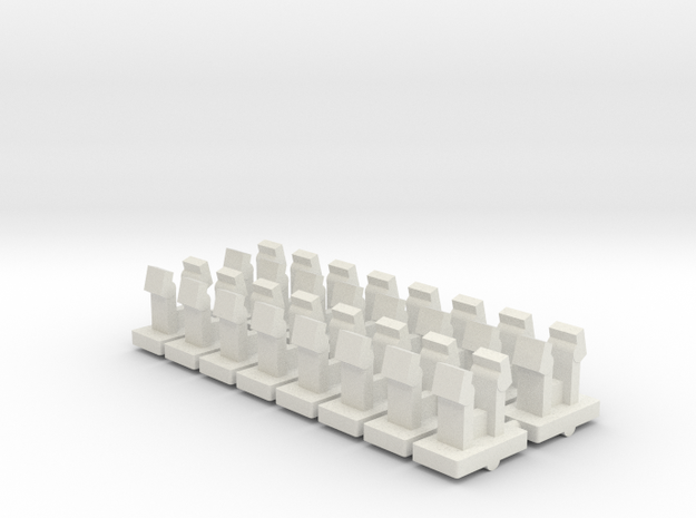 USS Flagg Replacement Deck Clips (x16) in White Natural Versatile Plastic