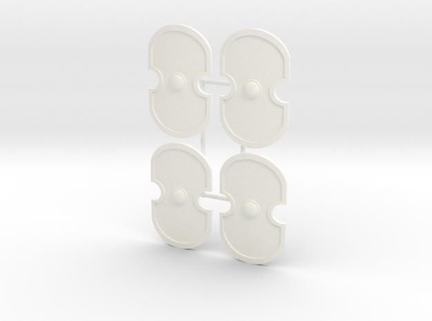 WICKER SHIELD X4  in White Processed Versatile Plastic