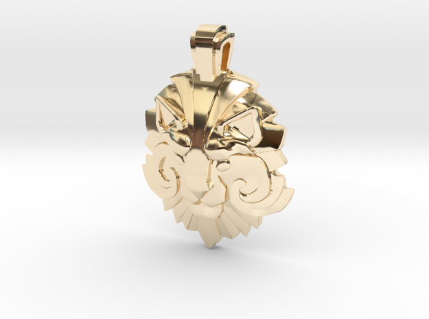 Dota2 - Medal of Courage II in 14K Yellow Gold