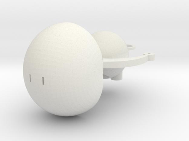 Big head ornaments in White Natural Versatile Plastic