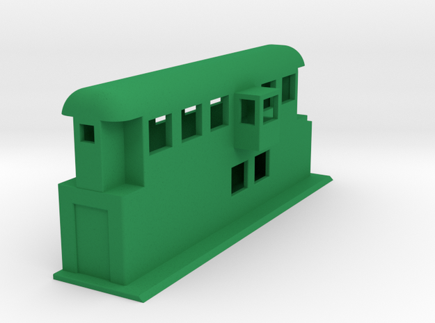 Behelfsstellwerk KASSEL Stellwerk Switching Box 1: in Green Processed Versatile Plastic