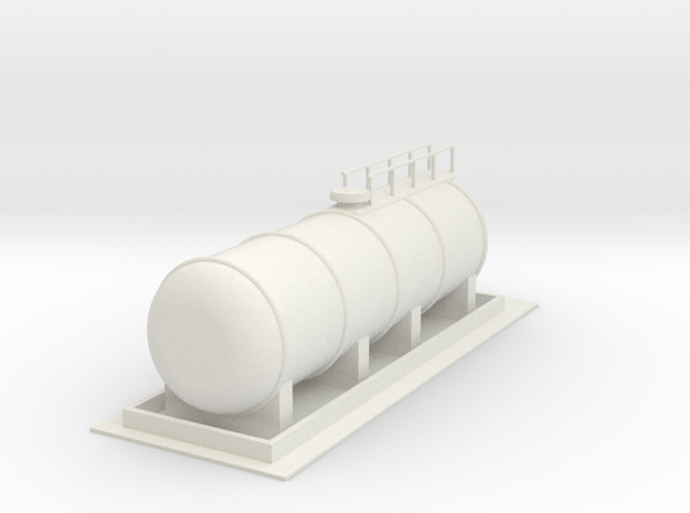 Dieseltankstelle Gas Fuel Station 1:160 in White Natural Versatile Plastic