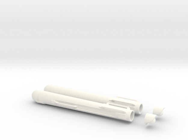 23rd Century Combat Veteran Space Warpers in White Processed Versatile Plastic