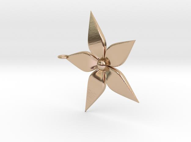 Flower Pendant in 14k Rose Gold
