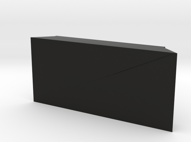 TeleScopix Mount Cover - 1 Slot Plate in Black Natural Versatile Plastic